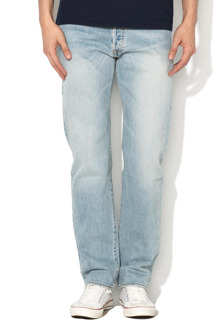 Jeansi bleu cu croiala dreapta 501®