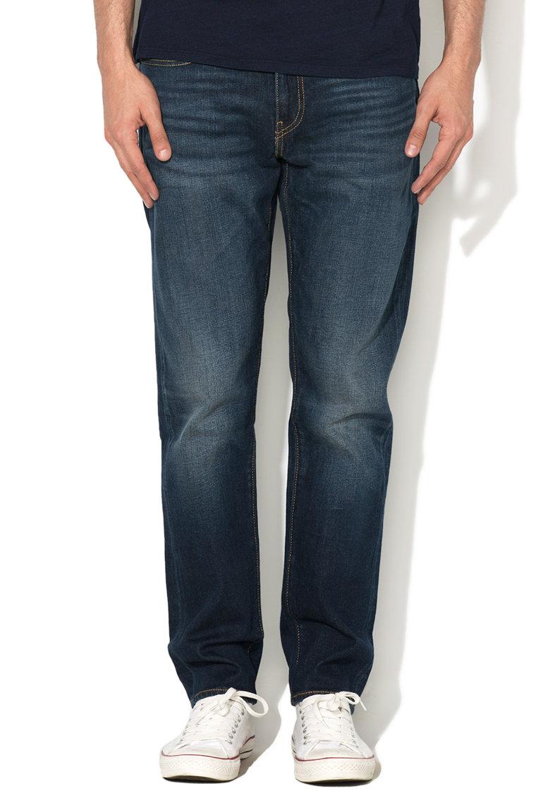 Jeansi conici albastru inchis 502