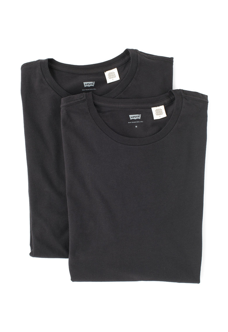 Set de tricouri negre slim fit - 2 piese