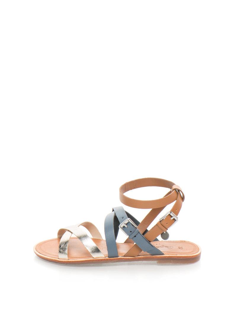 Sandale tricolore de piele Arizona de la Pepe Jeans London