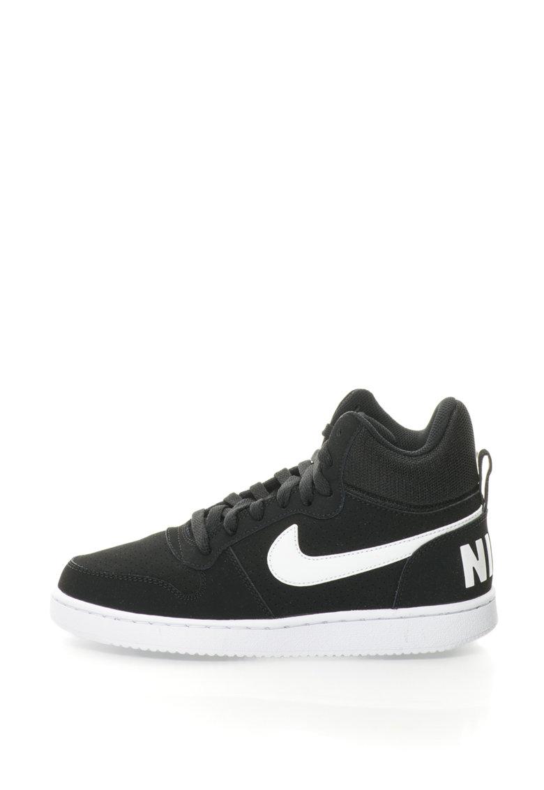 Pantofi sport mid-high cu insertii de piele intoarsa Court Borough de la Nike
