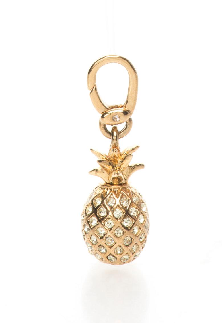 Juicy Couture Pandantiv auriu in forma de ananas cu strasuri