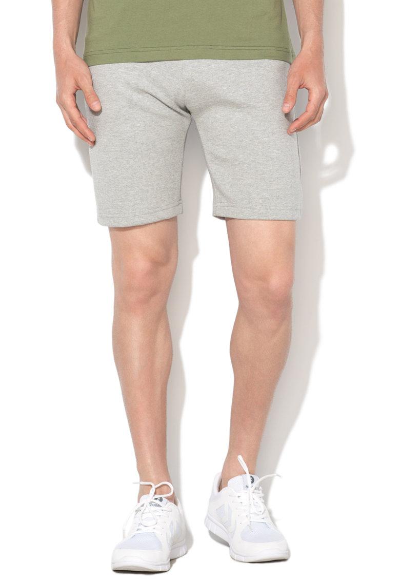 Pantaloni scurti sport gri melange