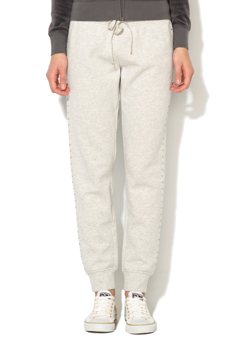 Juicy Couture Pantaloni sport slim fit gri melange