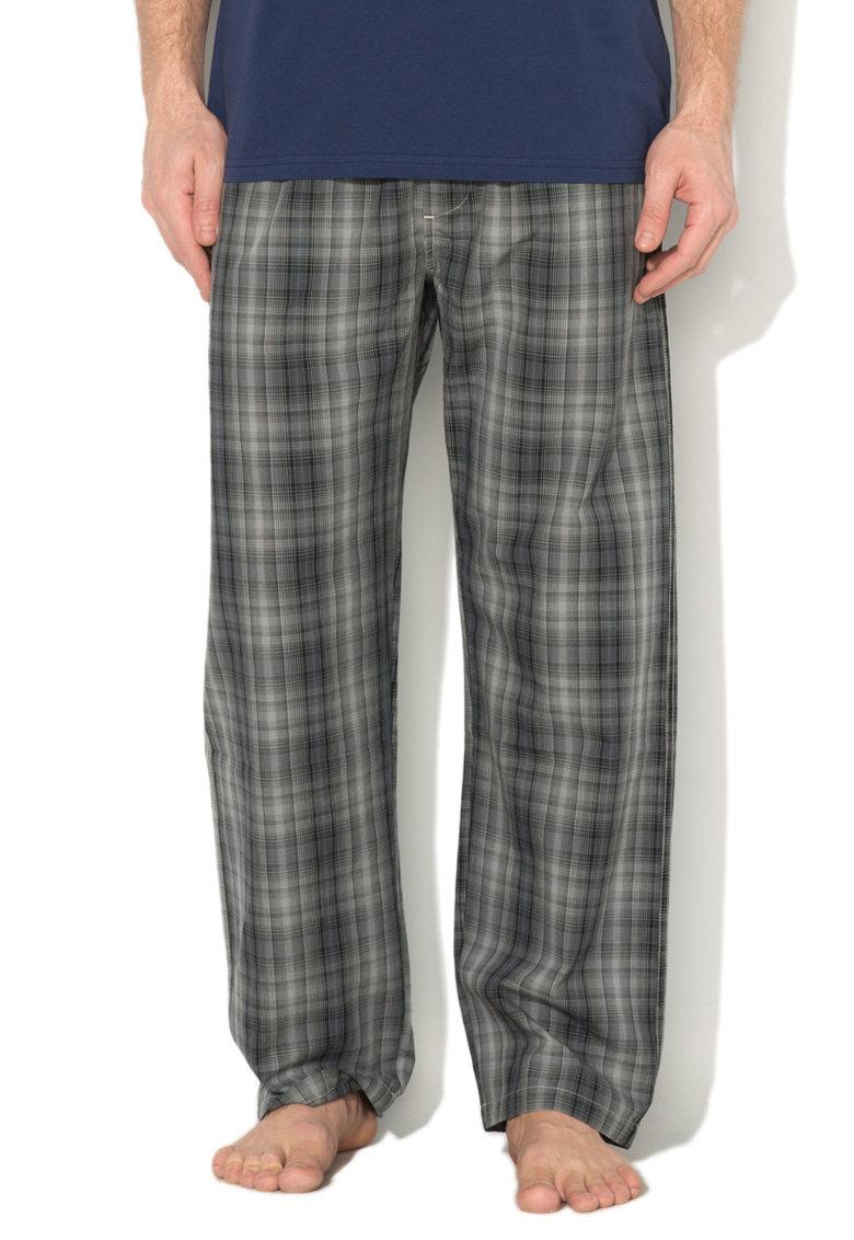Diesel Pantaloni de pijama in nuante de gri in carouri Mardock
