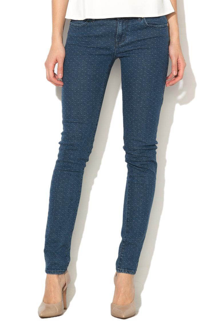Juicy Couture Jeansi conici albastru prafuit cu nopeuri