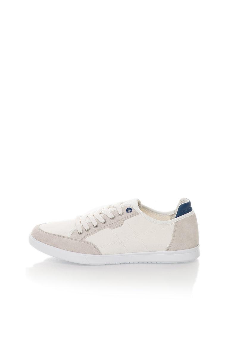 Geox Pantofi sport alb cu gri perlat Walee