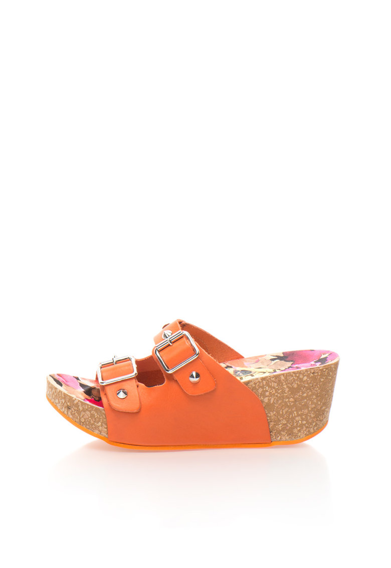 Oakoui Sandale slip-on wedge oranj Jany