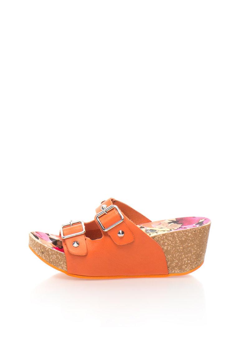 Oakoui Sandale slip-on wedge oranj Jany