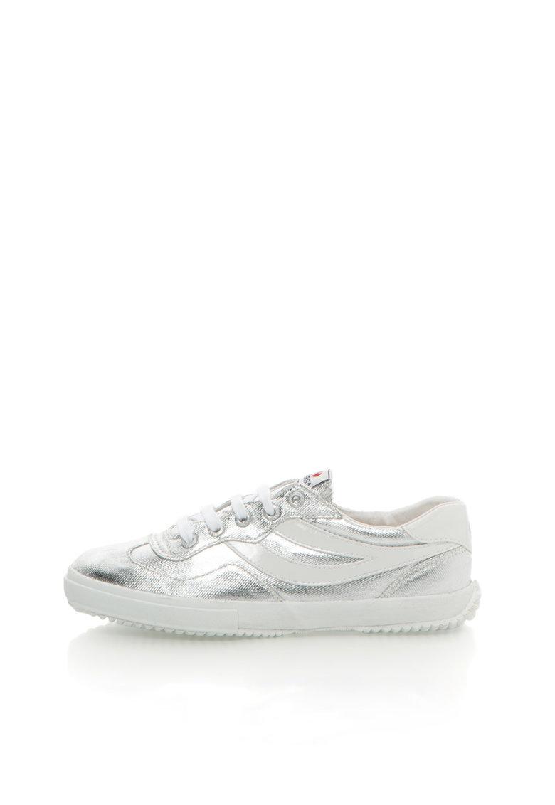 Superga Pantofi sport argintiu cu alb Cotmetw