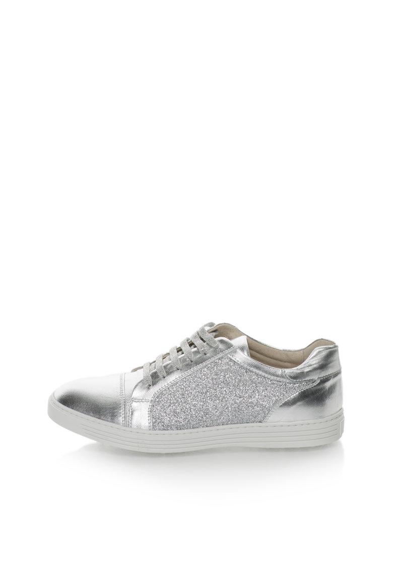 Zee Lane Pantofi sport argintii stralucitori de piele Clara