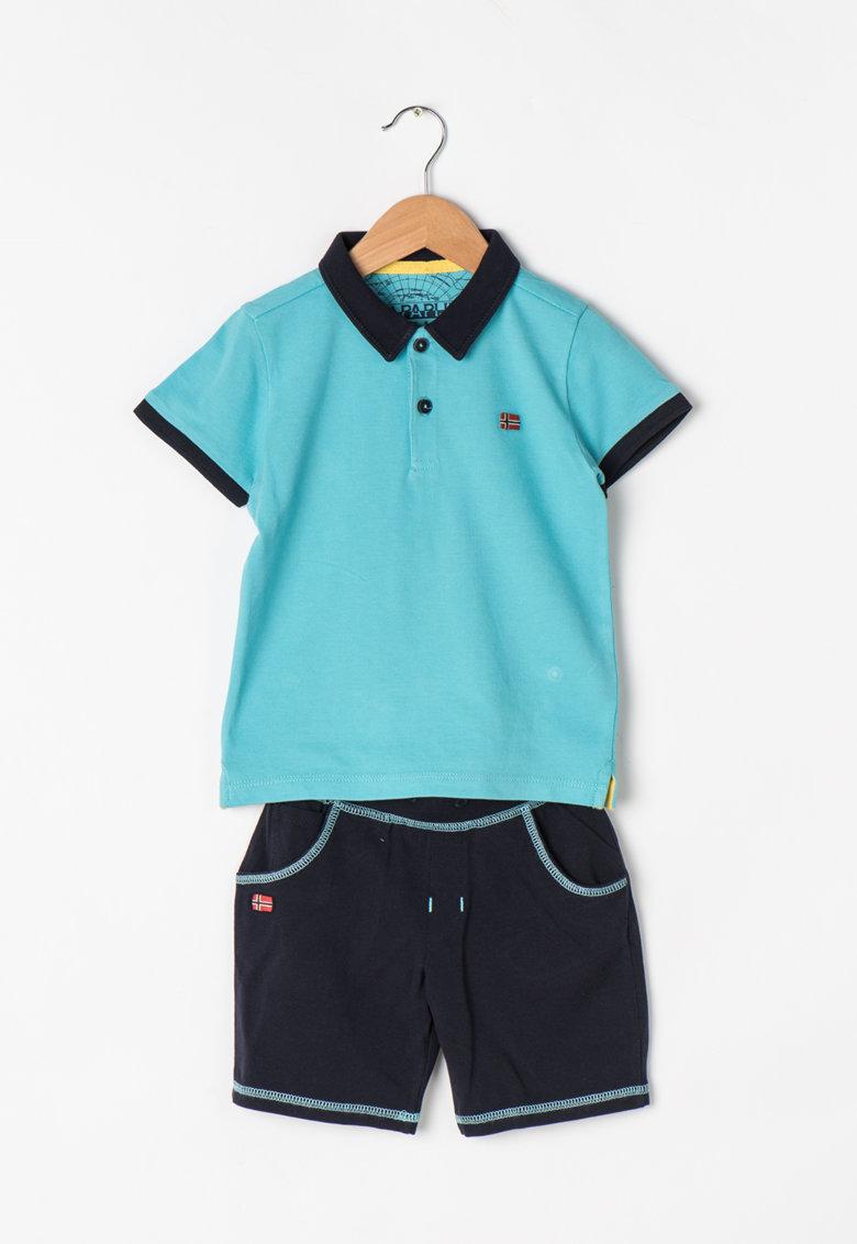 Napapijri Set bleumarin cu albastru de tricou si pantaloni scurti Webster