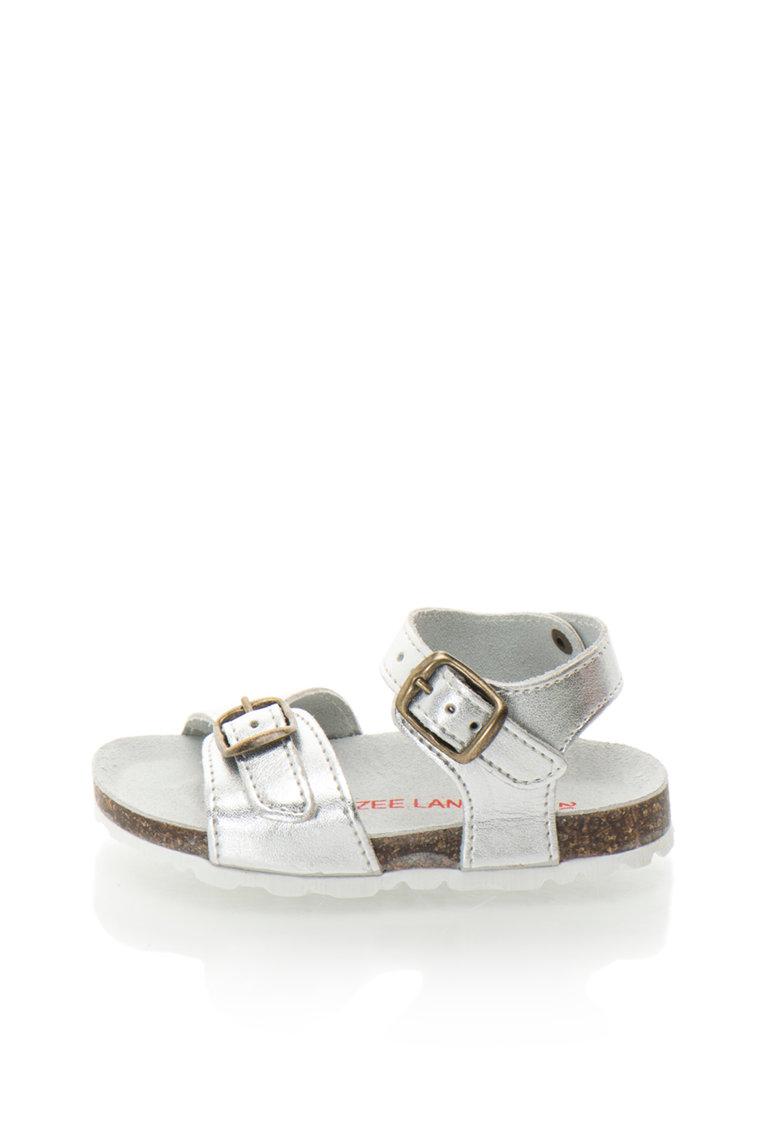 Sandale argintii de piele Alex