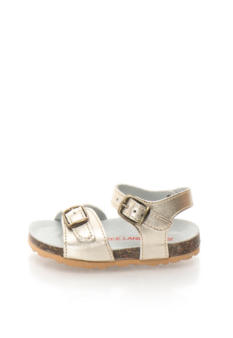 Sandale auriu deschis de piele Alex
