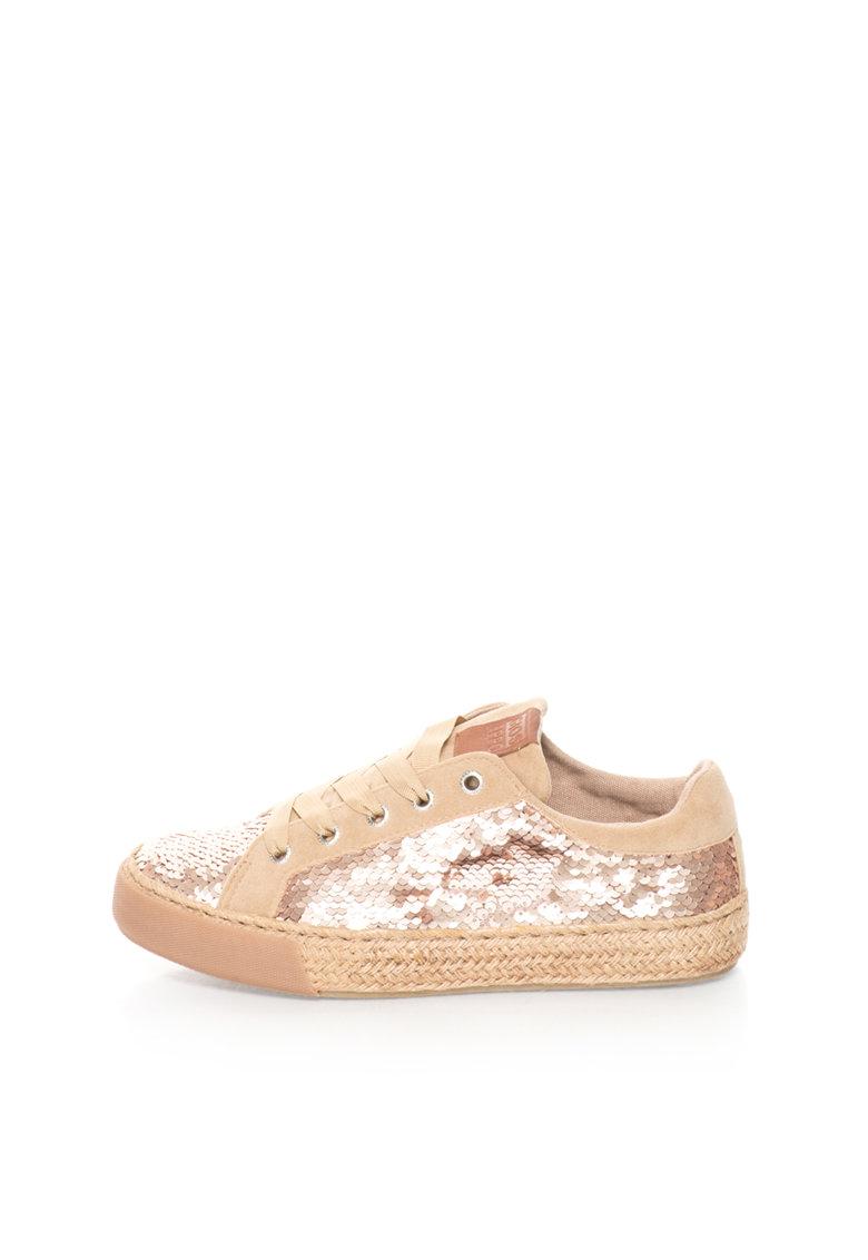 Gioseppo Pantofi sport auriu rose cu bej Halia