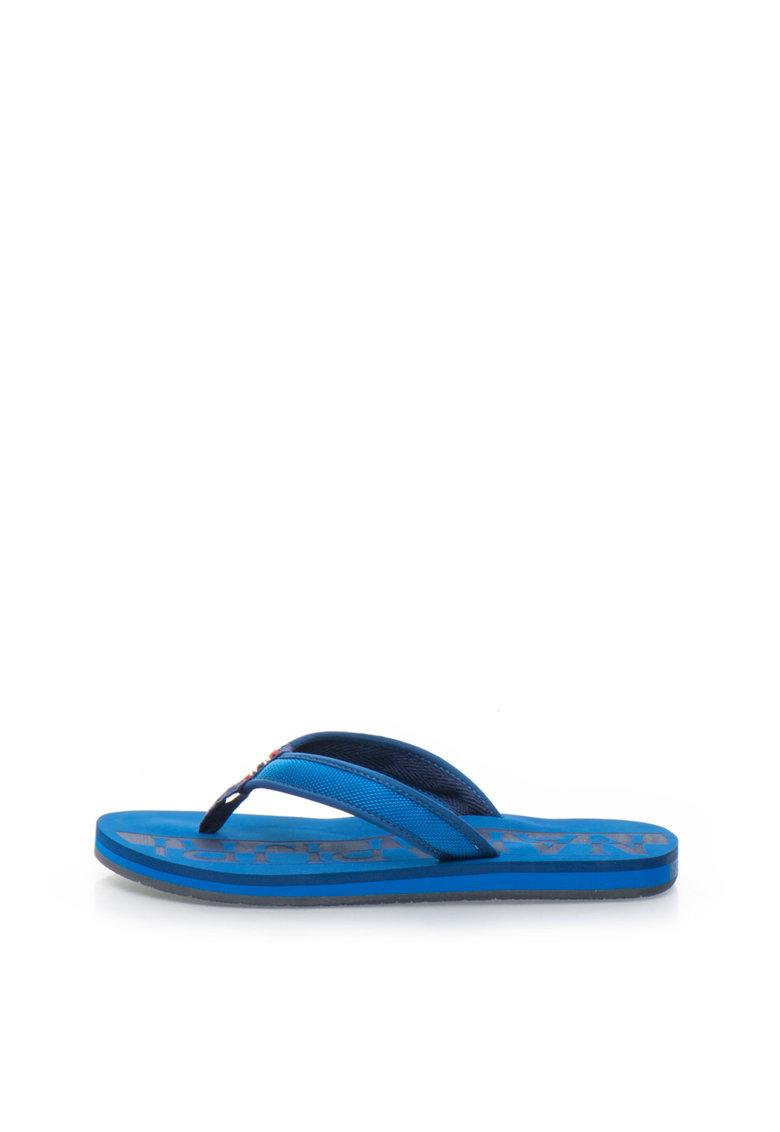 Napapijri Papuci flip-flop in doua nuante de albastru Ariel