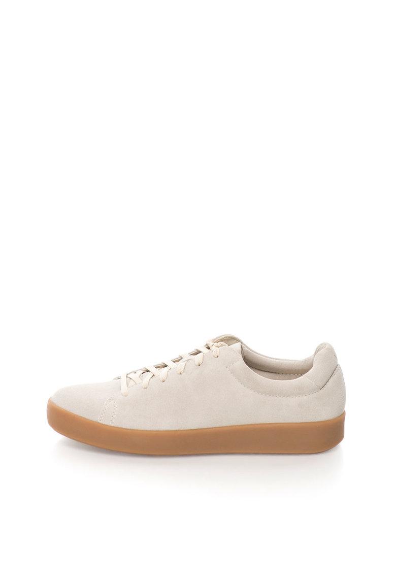 Vagabond Shoemakers Tenisi flatform grej de piele intoarsa Serena