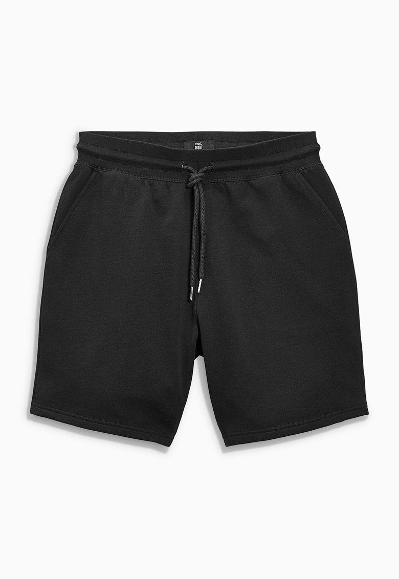 NEXT Pantaloni scurti negri din jerseu