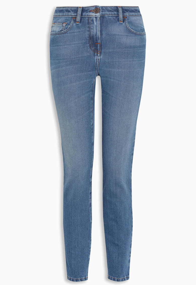NEXT Jeansi skinny crop albastri