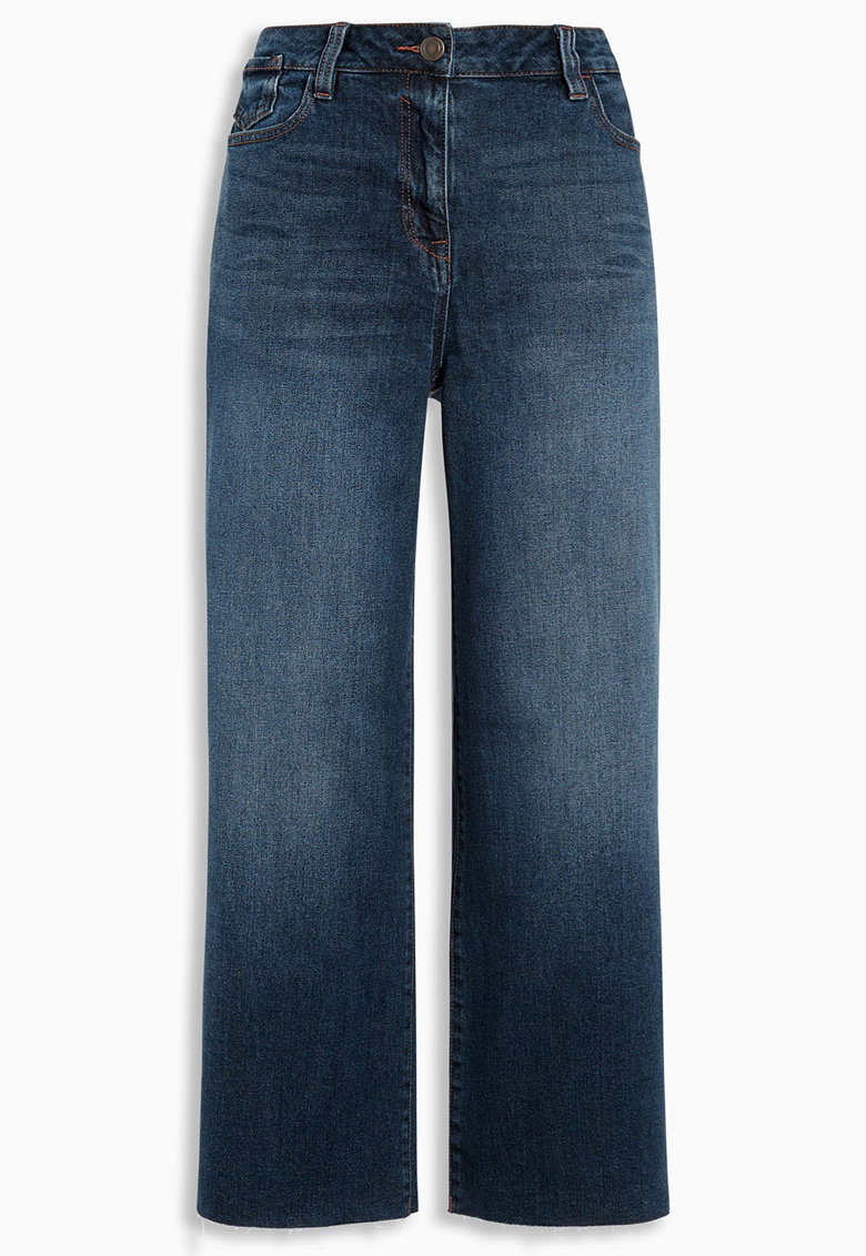Jeansi albastri cu croiala dreapta