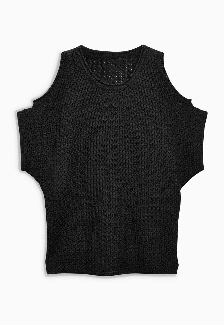 NEXT Bluza neagra cu decupaje