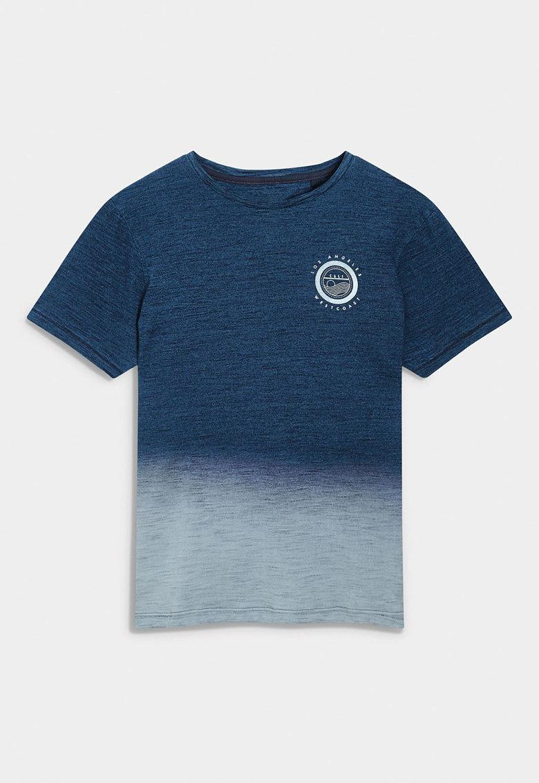 NEXT Tricou albastru cu imprimeu grafic