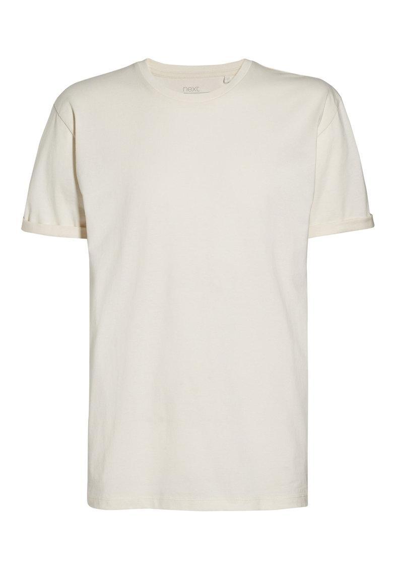 NEXT Tricou alb fildes