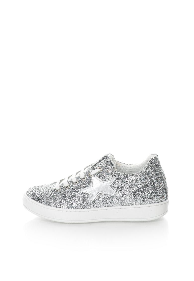 Zee Lane Pantofi sport argintii cu exterior stralucitor