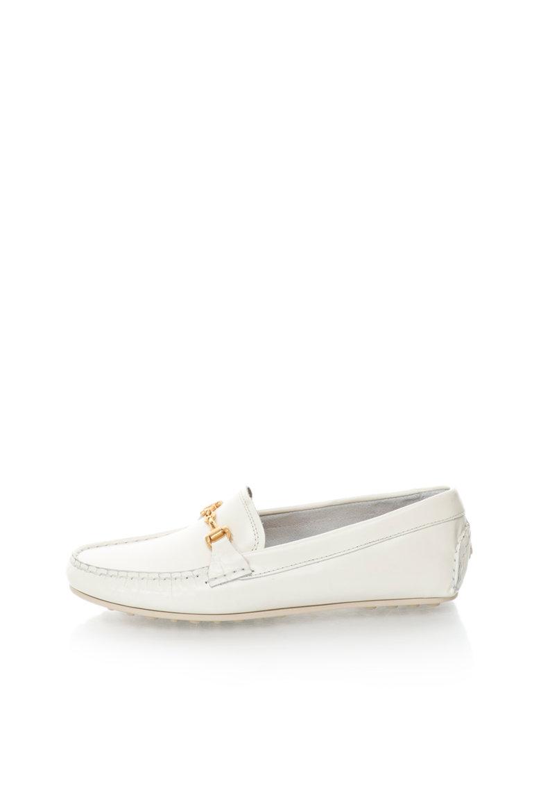Gant Pantofi loafer alb prafuit de piele Montauk