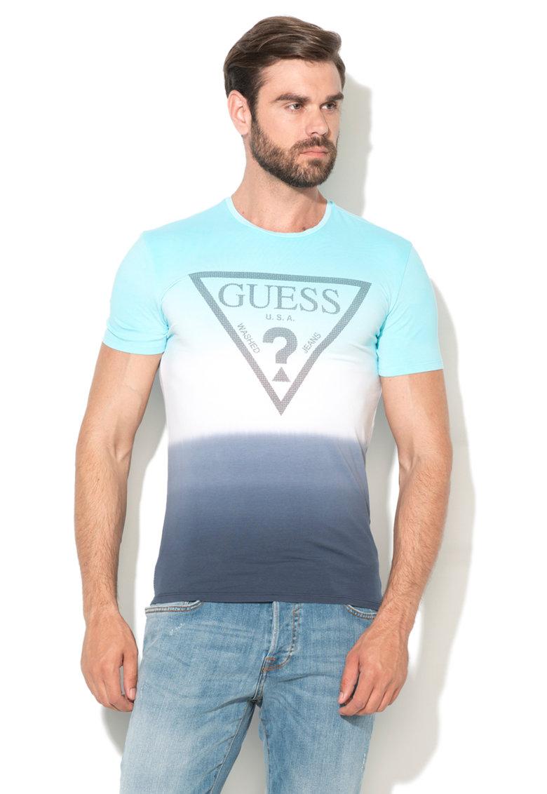 GUESS JEANS Tricou extra slim fit cu logo