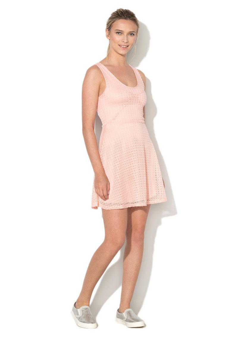 Hailys Haily's – Rochie skater roz de dantela Hedda