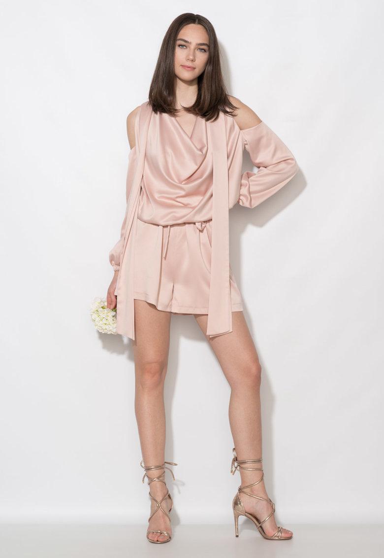 Zee Lane Collection Salopeta scurta roz deschis cu decupaje pe umeri