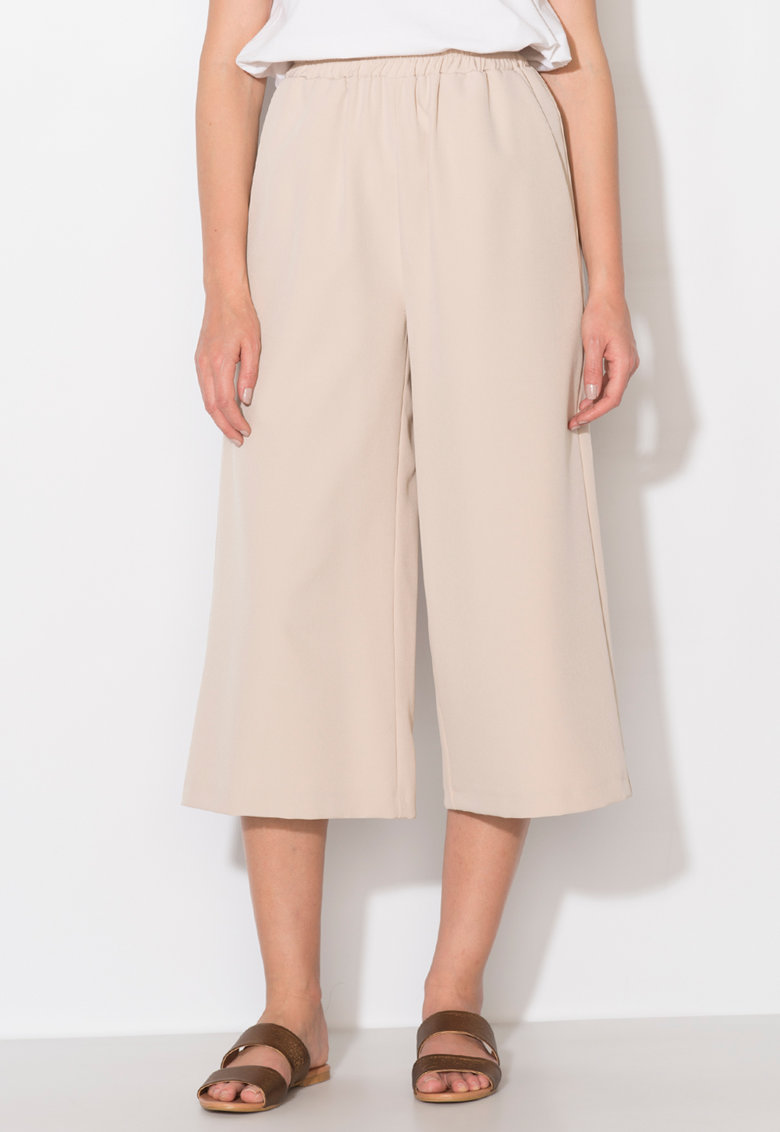 Pantaloni culotte bej Zee Lane Collection