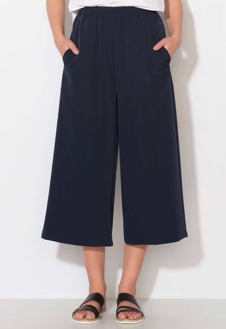 Pantaloni culotte bleumarin Zee Lane Collection