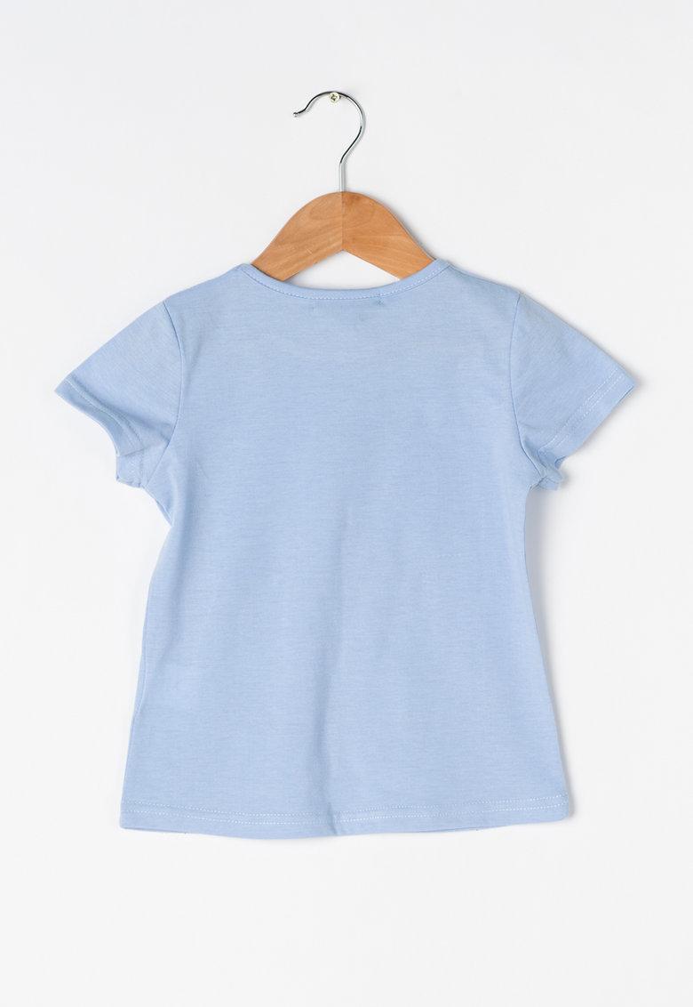 Zee Lane Kids Tricou albastru lavanda cu imprimeu – tinte si strasuri