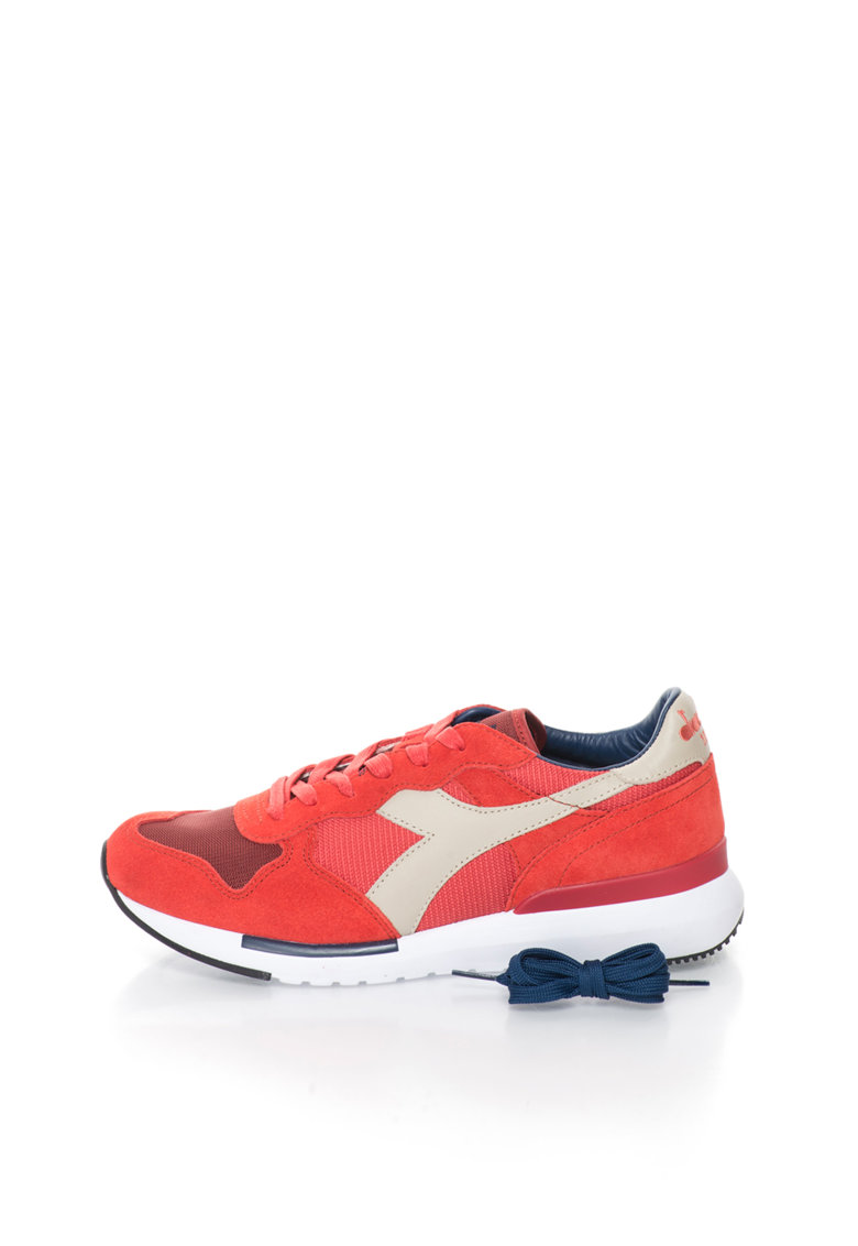 Diadora Heritage Pantofi sport in nuante de rosu si ecru Trident Evo