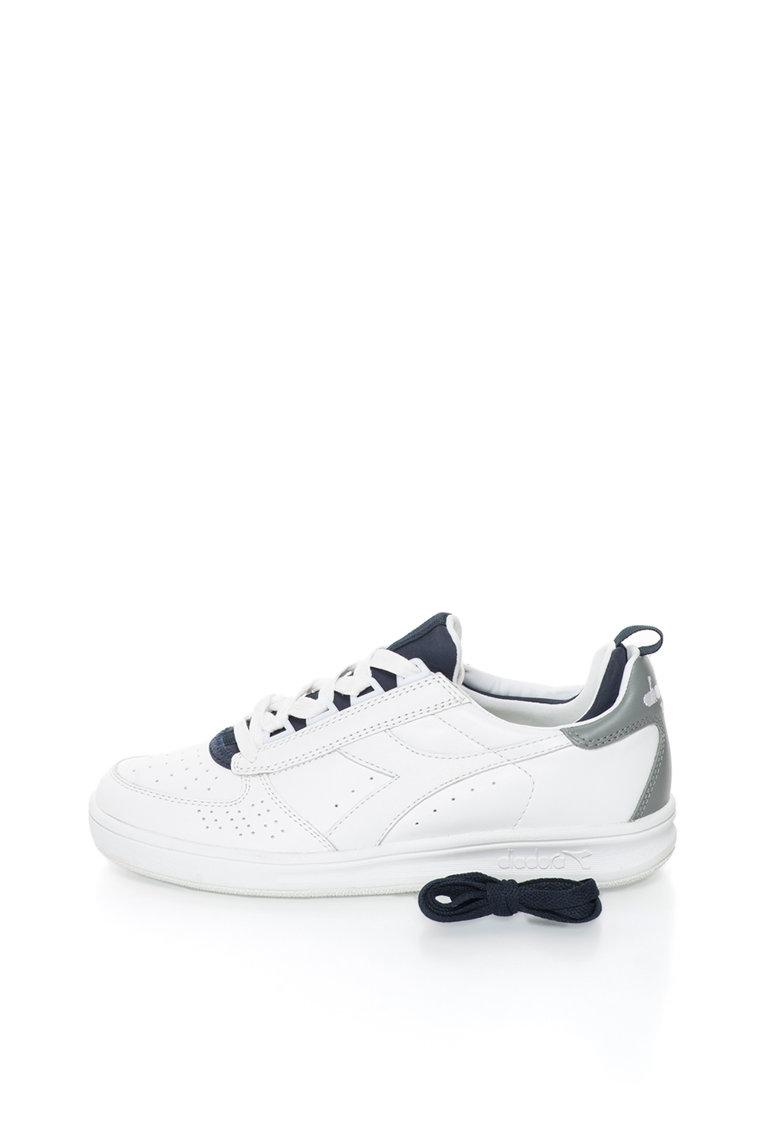 Diadora Heritage Pantofi sport alb cu bleumarin de piele