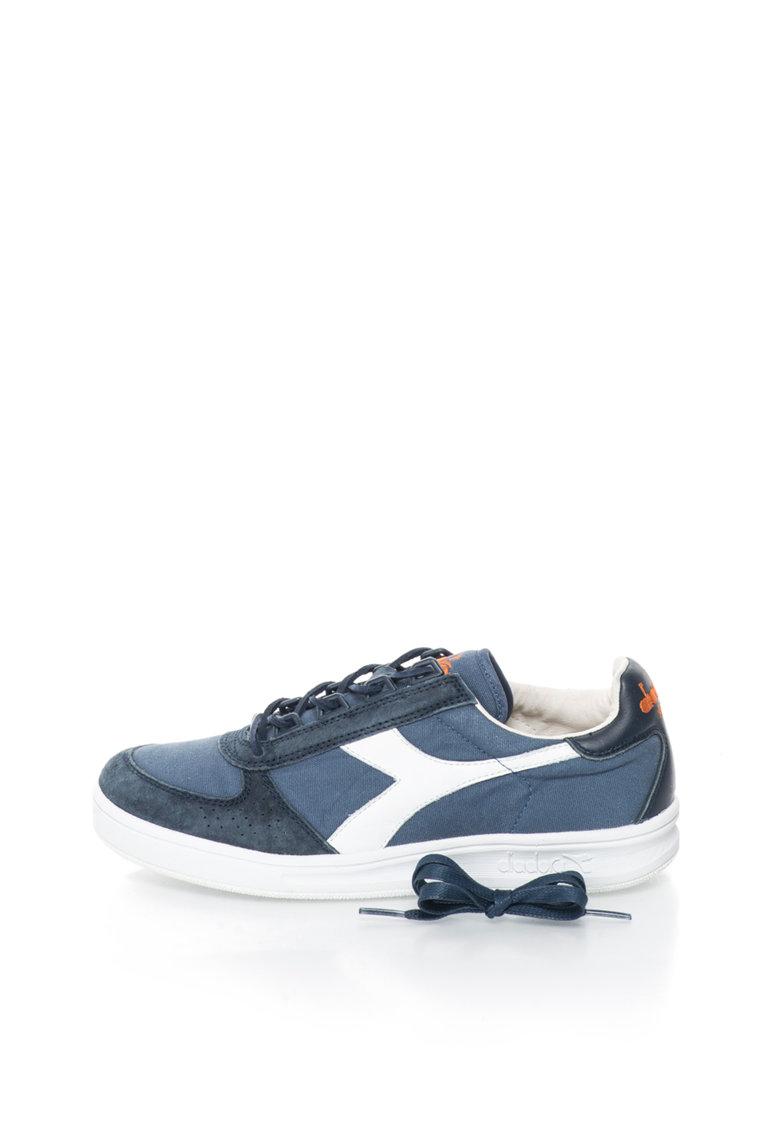 Diadora Heritage Pantofi sport albastru si alb cu aspect de denim Elite