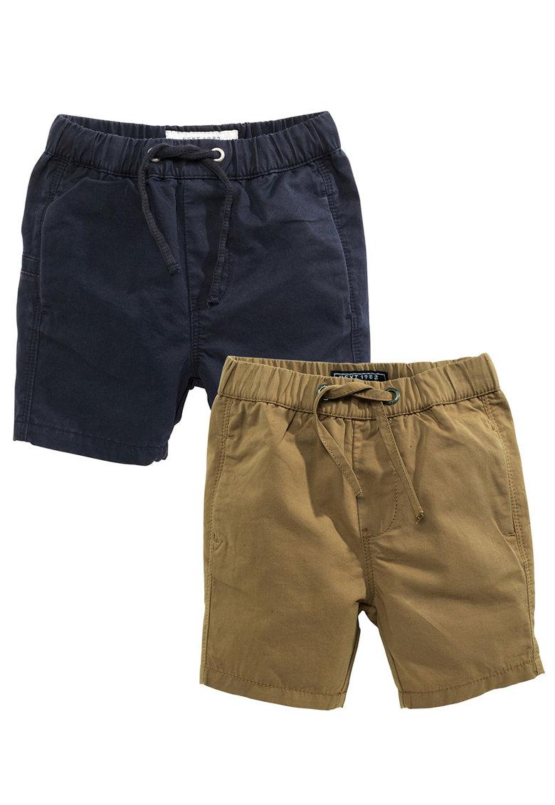 NEXT Set de pantaloni scurti bleumarin cu maro sepia – 2 piese
