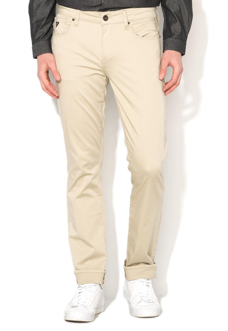 Pantaloni skinny bej inchis