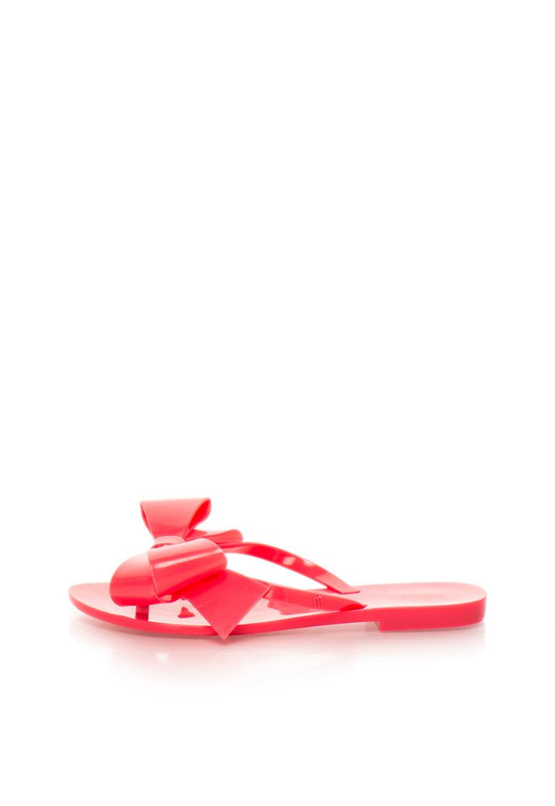 Papuci flip-flop corai cauciucati cu funda de la Melissa