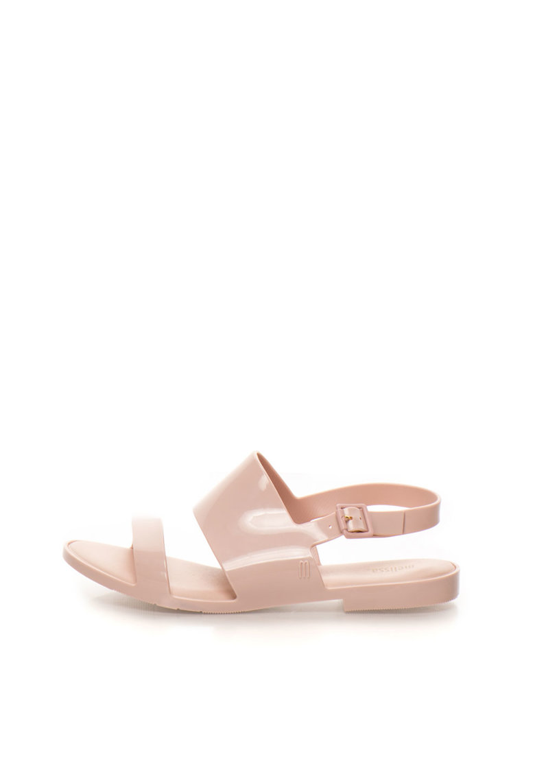Sandale slingback cauciucate roz prafuit Classy de la Melissa
