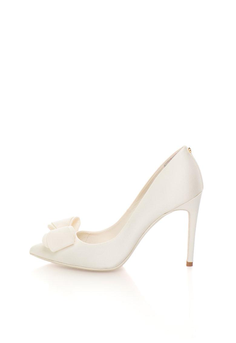 Ted Baker Pantofi stiletto alb unt cu funda decorativa Azeline