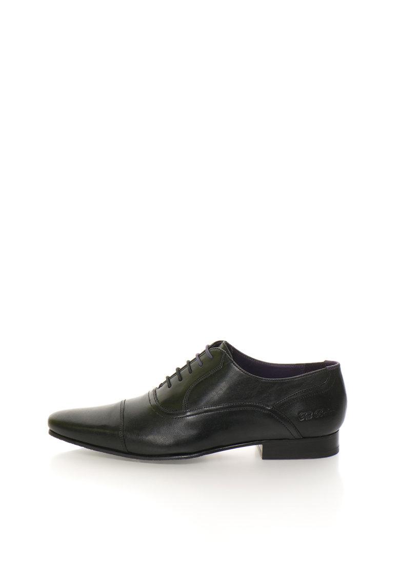 Pantofi Oxford Negri De Piele Rogrr