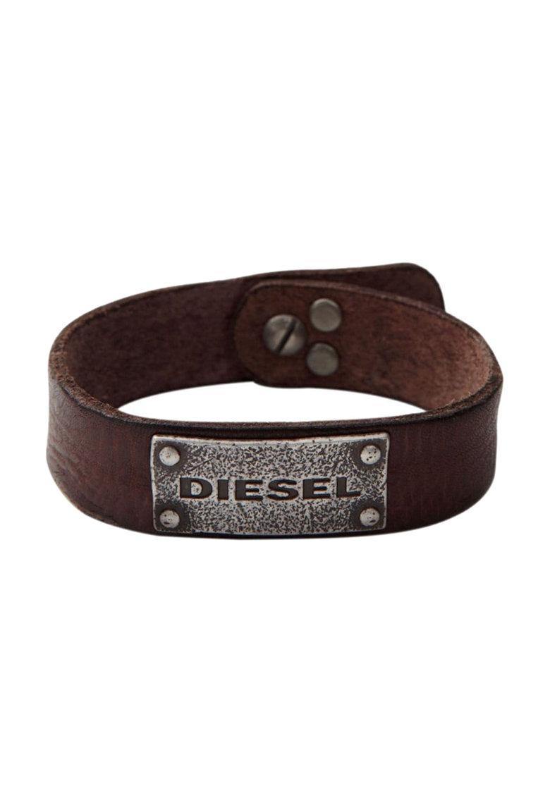 Bratara maro inchis de piele de la Diesel