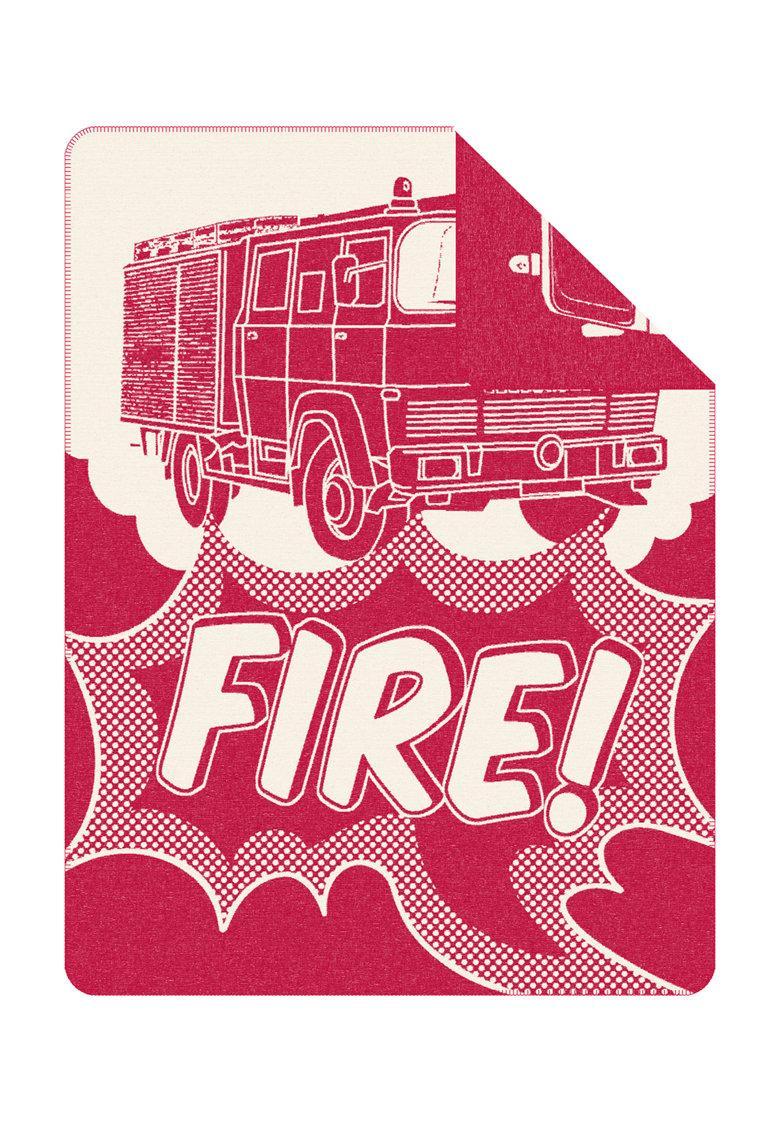 SOliver Patura rosu cu alb si design masina de pompieri