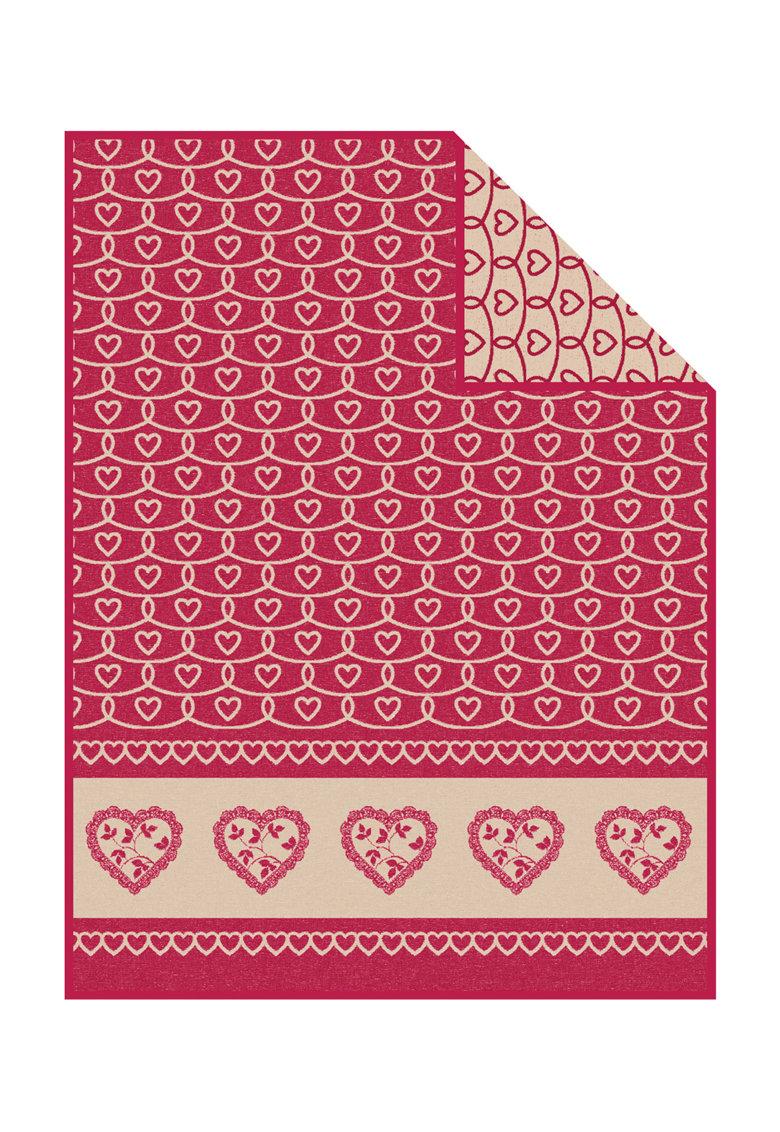 Ibena Patura rosu capsuna cu model cu inimi Tirol