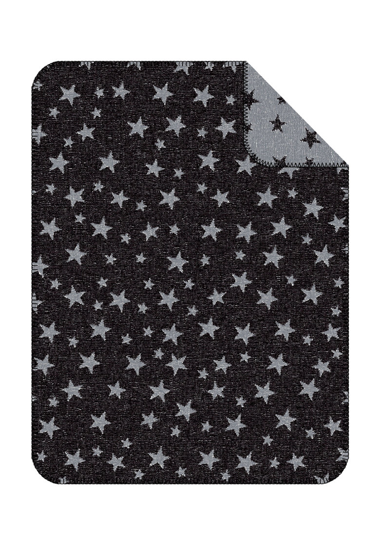 Patura negru cu gri cu model cu stele