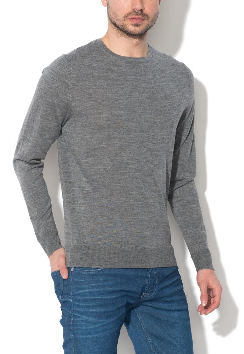 JackJones Pulover gri melange de lana merinos Mark