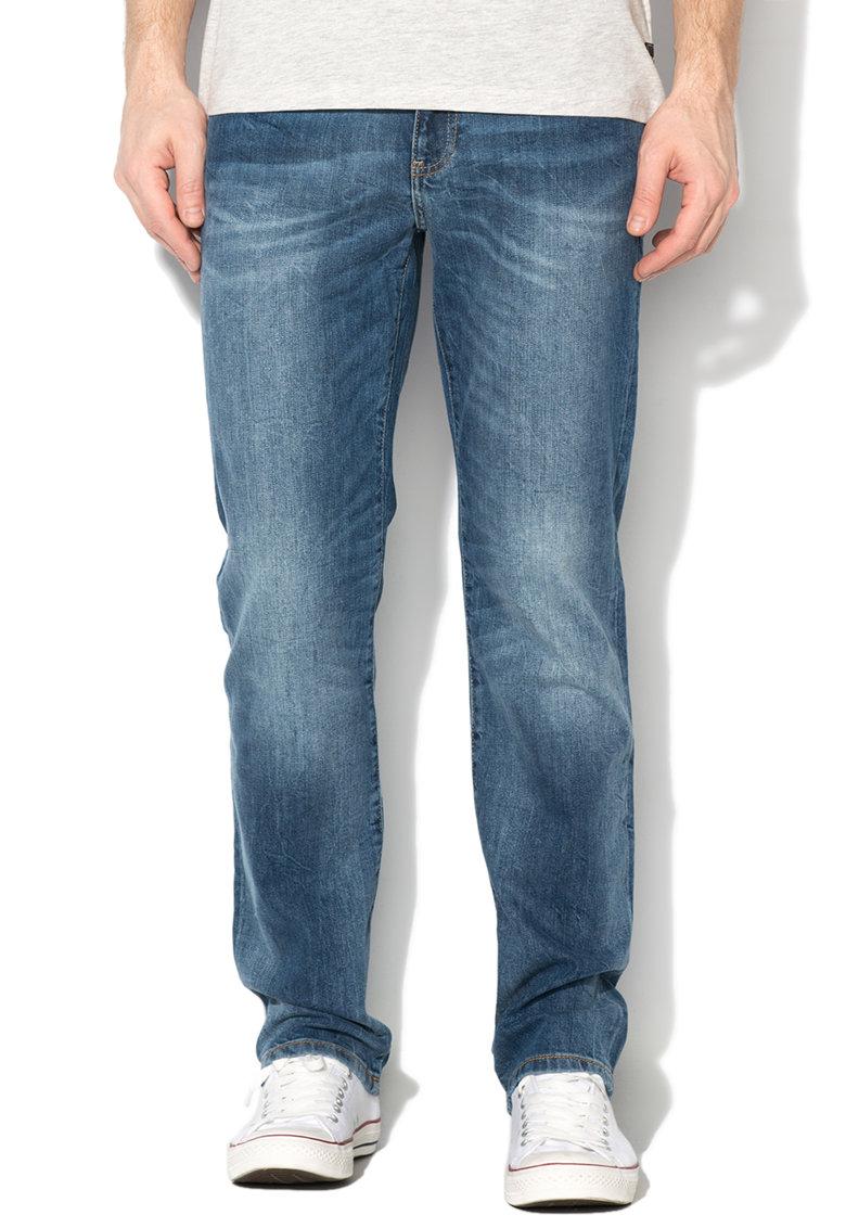 Big Star Jeansi albastri cu aspect decolorat Bryan